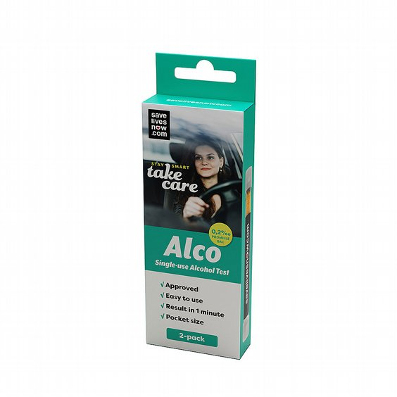 Alco, alkoholtest engångs 2-pack